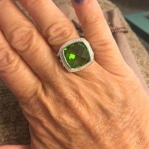 David Yurman 14mm Green Peridot Diamond Albion 6.5